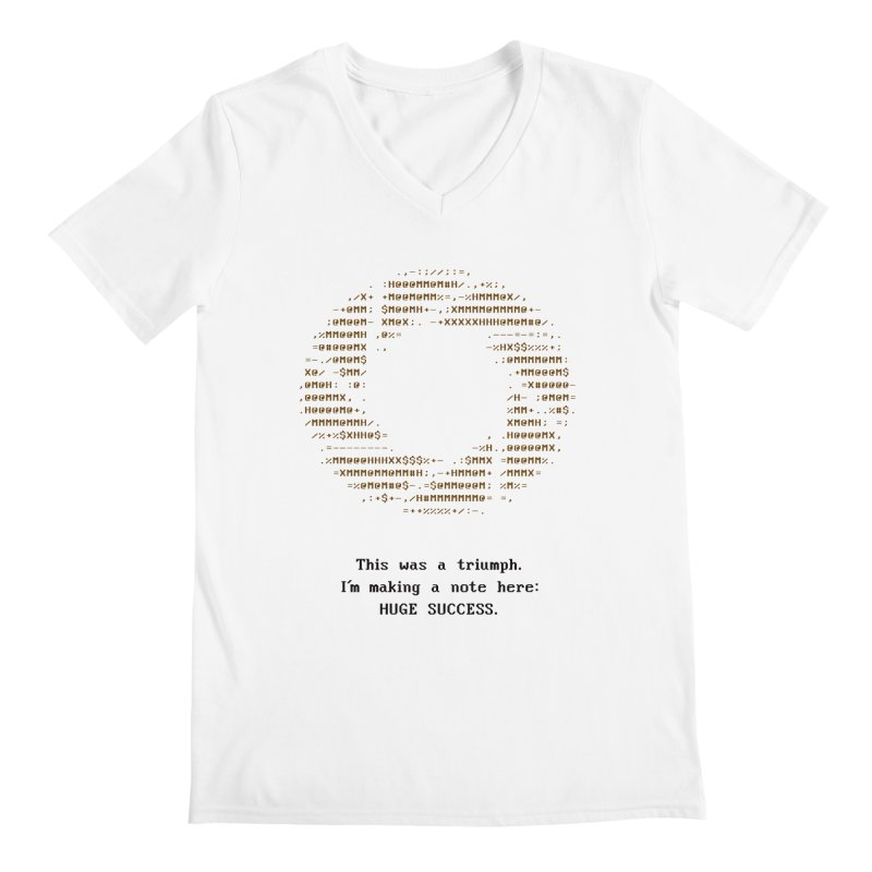 Aperture - Huge Success ASCII art - for light fabric Men's Regular V-Neck by Pixel and Poly's Artist Shop