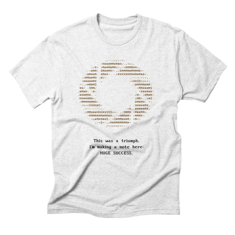 Aperture - Huge Success ASCII art - for light fabric Men's by Pixel and Poly's Artist Shop