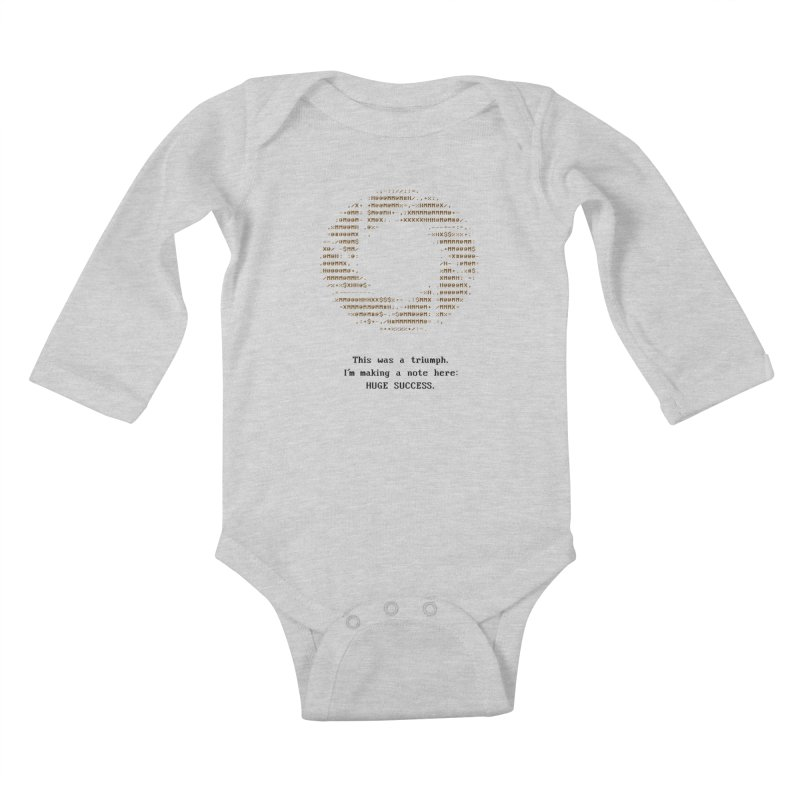Aperture - Huge Success ASCII art - for light fabric Kids Baby Longsleeve Bodysuit by Pixel and Poly's Artist Shop