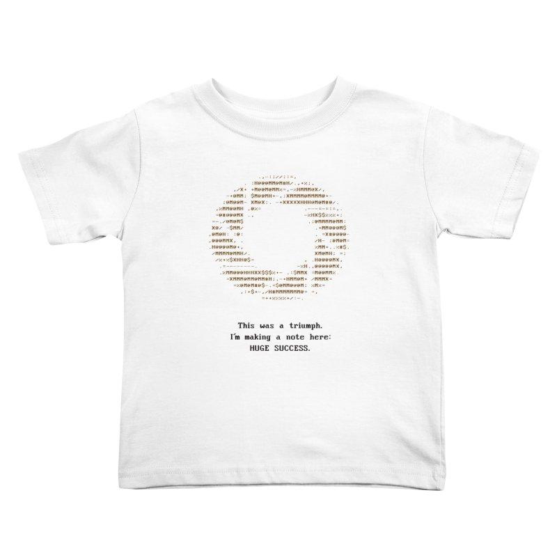 Aperture - Huge Success ASCII art - for light fabric Kids Toddler T-Shirt by Pixel and Poly's Artist Shop