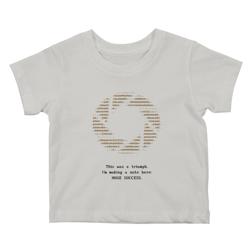 Aperture - Huge Success ASCII art - for light fabric Kids Baby T-Shirt by Pixel and Poly's Artist Shop