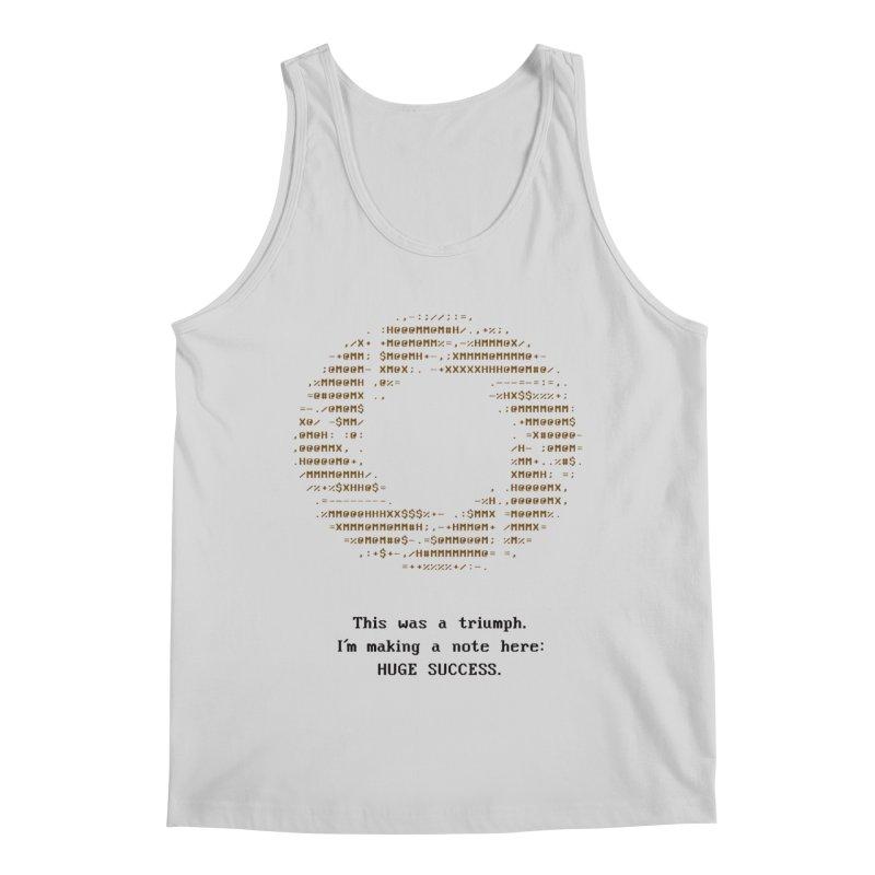 Aperture - Huge Success ASCII art - for light fabric Men's Regular Tank by Pixel and Poly's Artist Shop