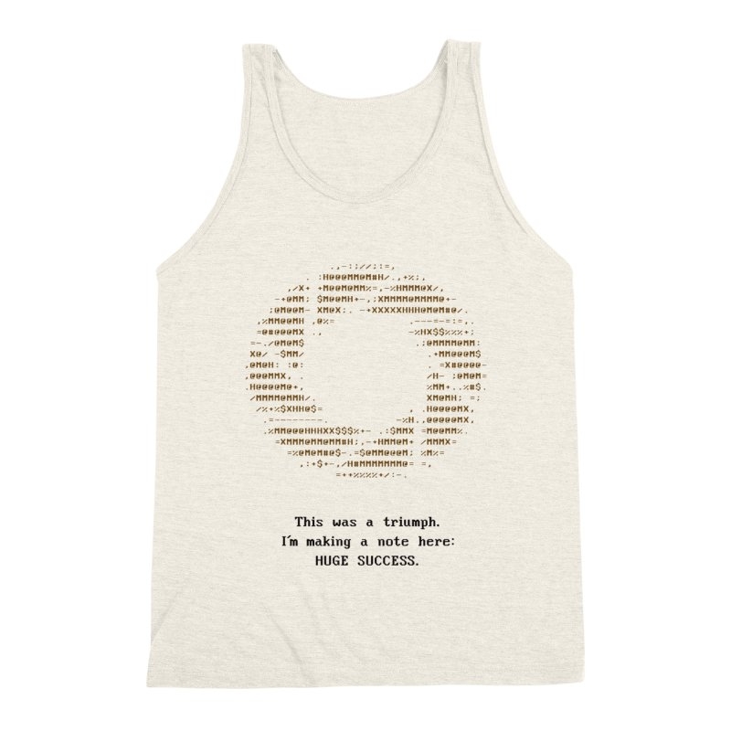Aperture - Huge Success ASCII art - for light fabric Men's Triblend Tank by Pixel and Poly's Artist Shop