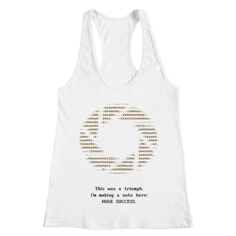 Aperture - Huge Success ASCII art - for light fabric Women's Racerback Tank by Pixel and Poly's Artist Shop