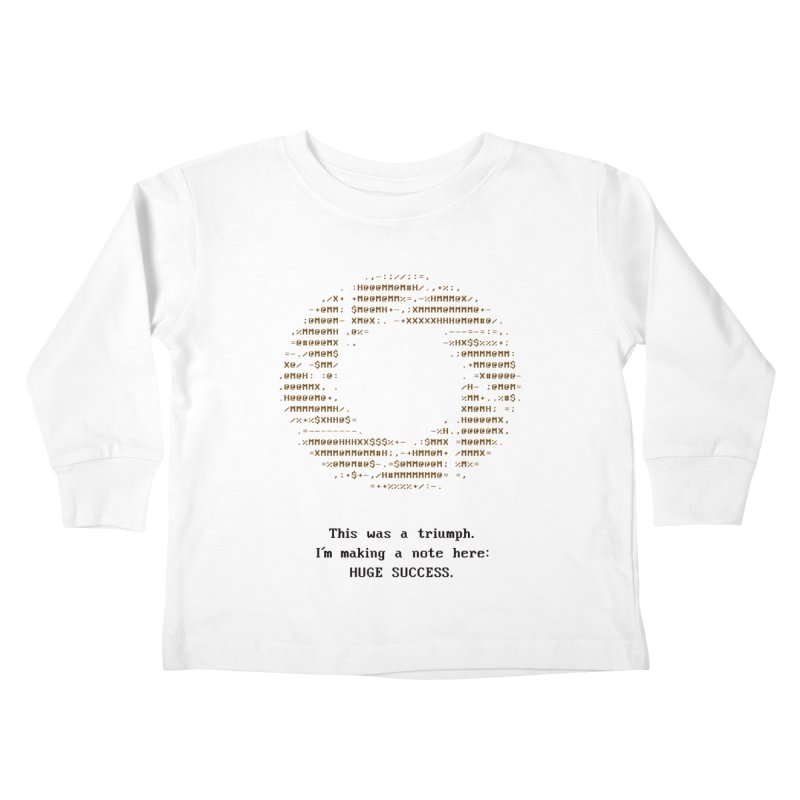 Aperture - Huge Success ASCII art - for light fabric Kids by Pixel and Poly's Artist Shop