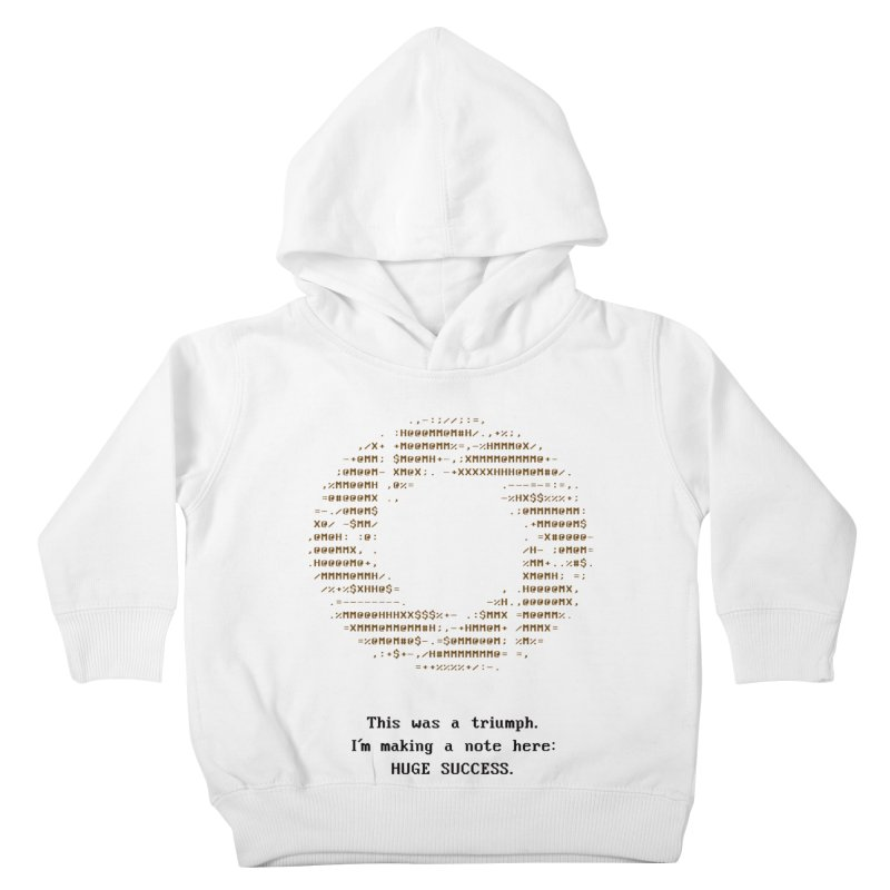 Aperture - Huge Success ASCII art - for light fabric Kids by Pixel and Poly's Artist Shop