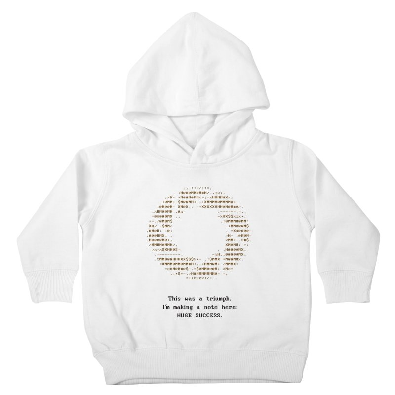 Aperture - Huge Success ASCII art - for light fabric Kids Toddler Pullover Hoody by Pixel and Poly's Artist Shop