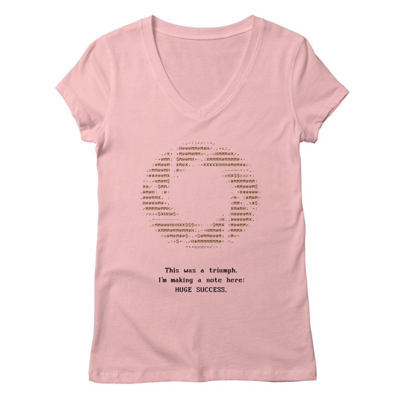 Aperture - Huge Success ASCII art - for light fabric Women's V-Neck by Pixel and Poly's Artist Shop