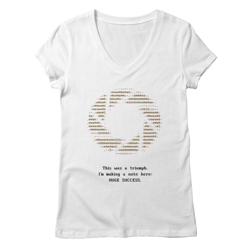 Aperture - Huge Success ASCII art - for light fabric Women's Regular V-Neck by Pixel and Poly's Artist Shop