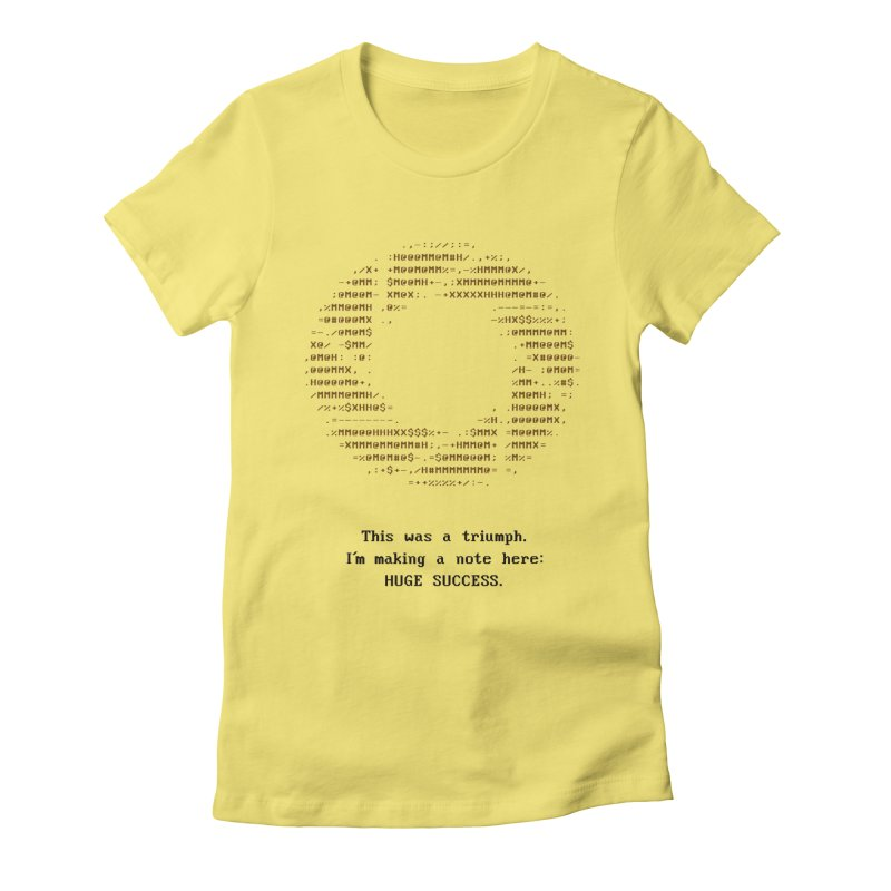 Aperture - Huge Success ASCII art - for light fabric Women's by Pixel and Poly's Artist Shop