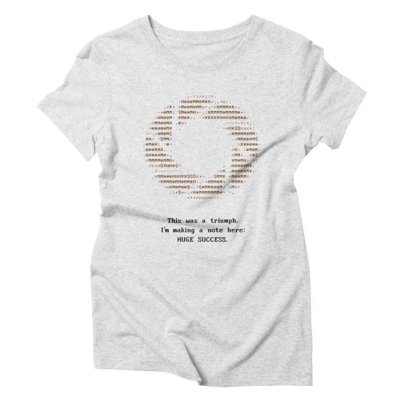 Aperture - Huge Success ASCII art - for light fabric Women's Triblend T-Shirt by Pixel and Poly's Artist Shop