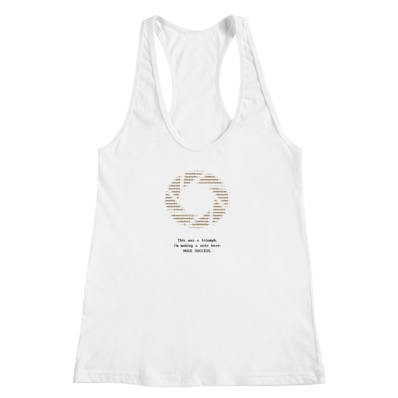 Aperture - Huge Success ASCII art - for light fabric Women's Racerback Tank by Pixel and Poly's Artist Shop