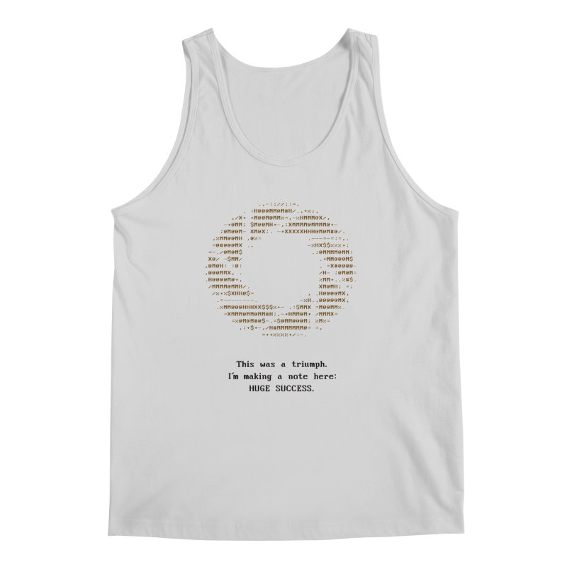 Aperture - Huge Success ASCII art - for light fabric Men's Tank by Pixel and Poly's Artist Shop
