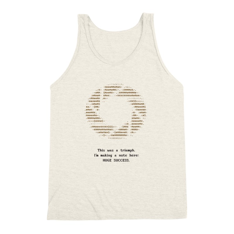 Aperture - Huge Success ASCII art - for light fabric Men's Triblend Tank by Pixel and Poly's Artist Shop