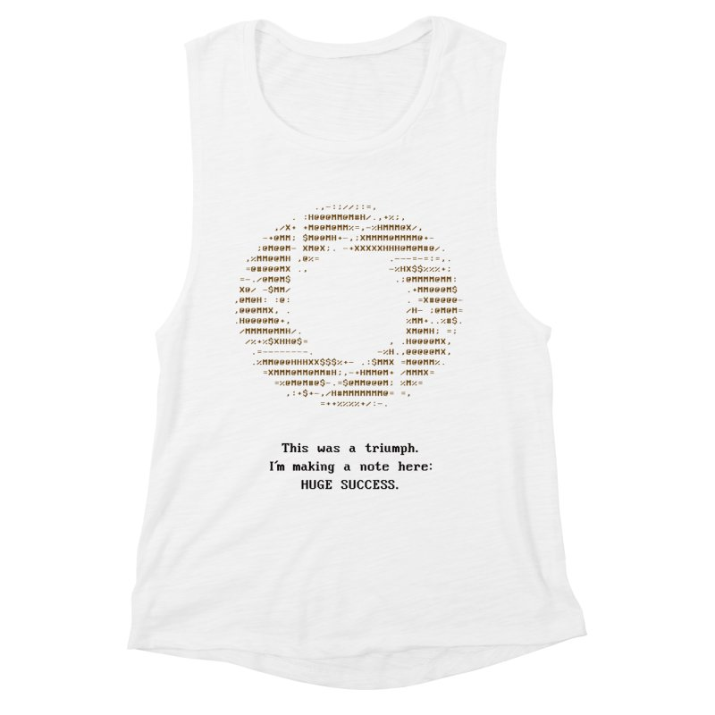 Aperture - Huge Success ASCII art - for light fabric Women's Muscle Tank by Pixel and Poly's Artist Shop