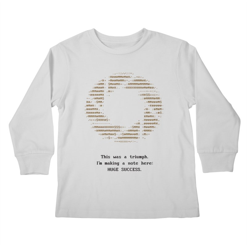 Aperture - Huge Success ASCII art - for light fabric Kids Longsleeve T-Shirt by Pixel and Poly's Artist Shop