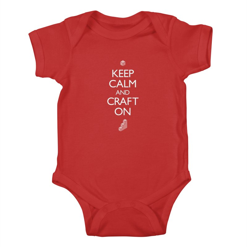 Keep Calm and Craft On Kids Baby Bodysuit by Pixel and Poly's Artist Shop