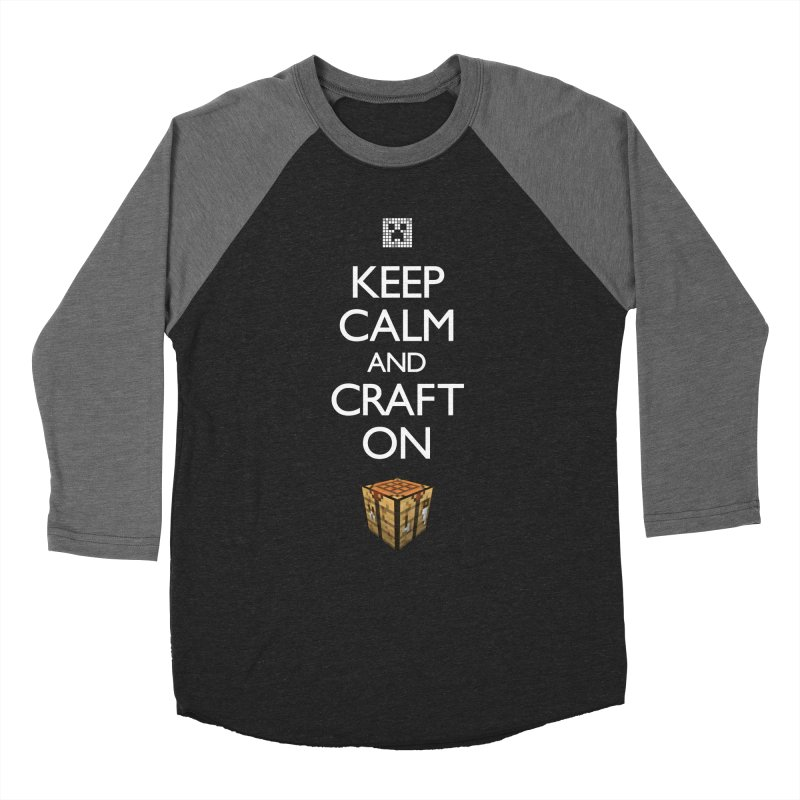 Keep Calm and Craft On Women's Baseball Triblend T-Shirt by Pixel and Poly's Artist Shop