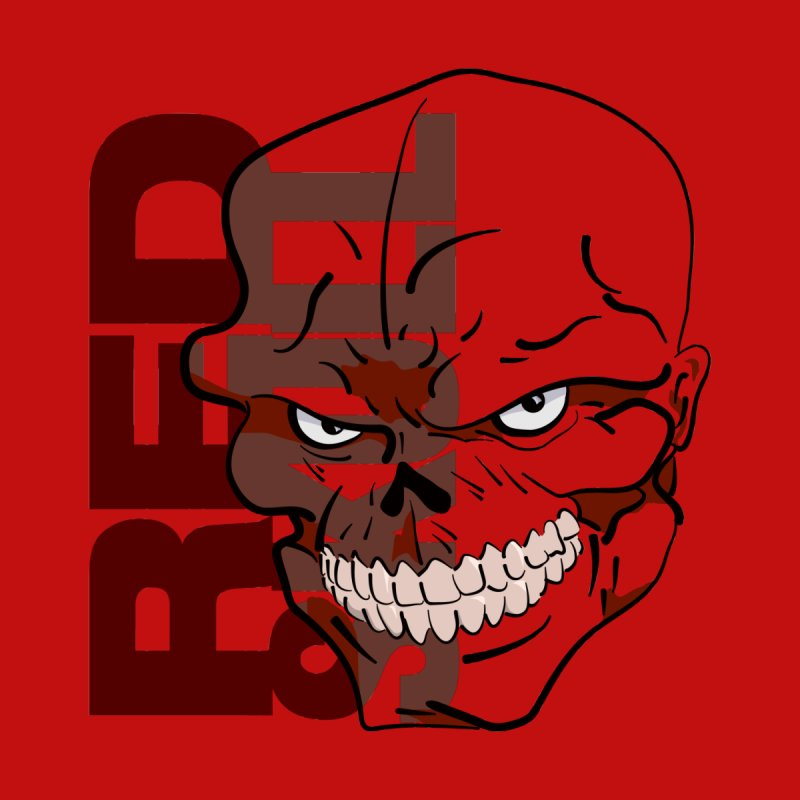 Marvel's Red Skull - Bold Graphic Men's T-shirt by Pixel and Poly's Artist Shop