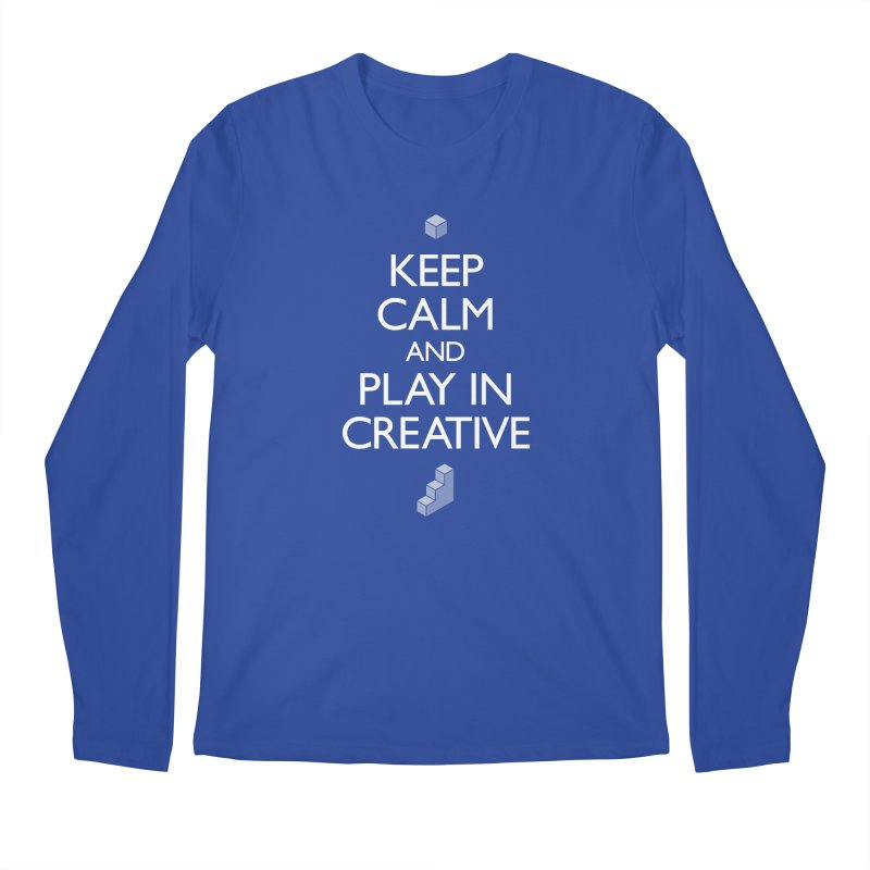 Keep Calm and Play in Creative Men's Regular Longsleeve T-Shirt by Pixel and Poly's Artist Shop