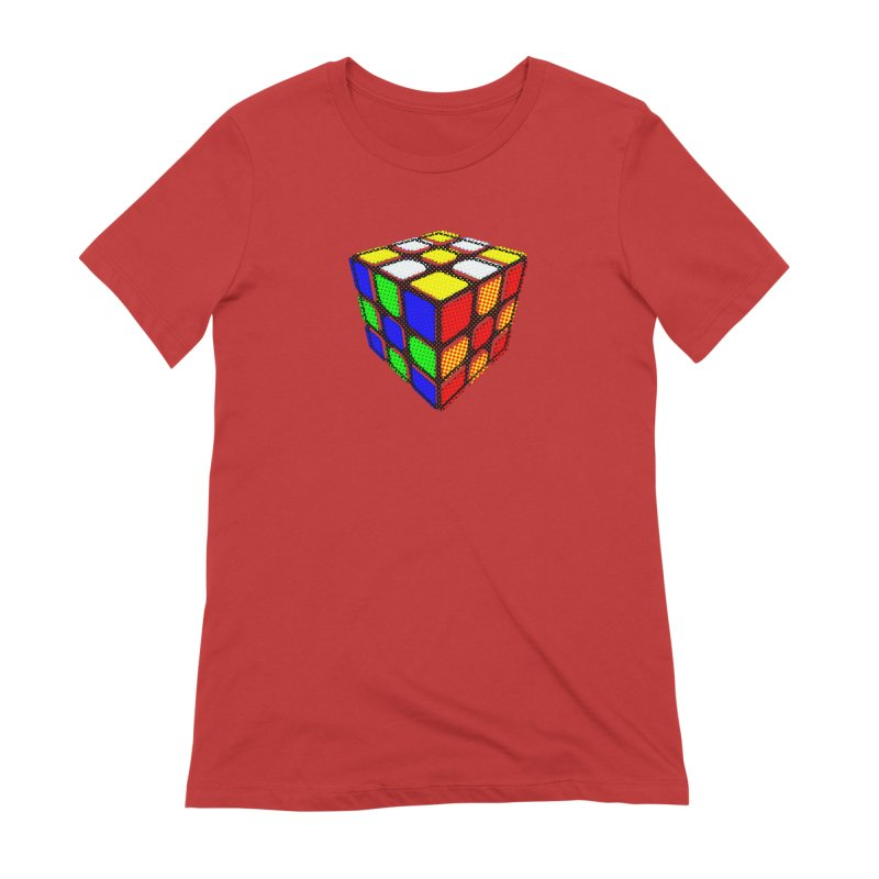 Speedcube - halftone design Women's Extra Soft T-Shirt by Pixel and Poly's Artist Shop