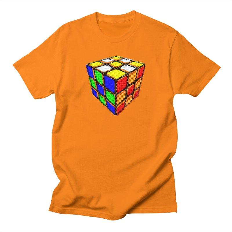 Speedcube - halftone design Men's T-Shirt by Pixel and Poly's Artist Shop
