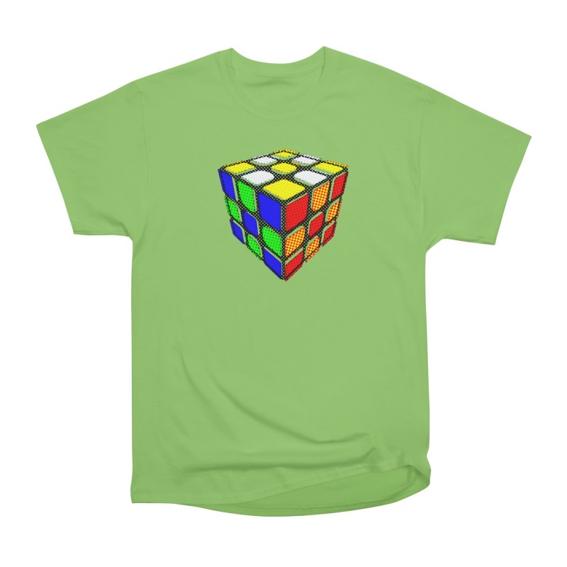 Speedcube - halftone design Men's Heavyweight T-Shirt by Pixel and Poly's Artist Shop