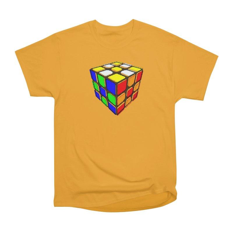 Speedcube - halftone design Men's Heavyweight T-Shirt by Pixel and Poly's Artist Shop