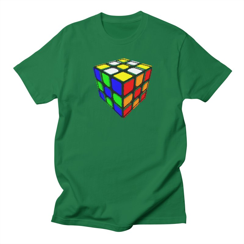 Speedcube - halftone design Women's T-Shirt by Pixel and Poly's Artist Shop