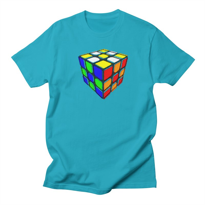 Speedcube - halftone design Men's T-Shirt by Pixel and Poly's Artist Shop