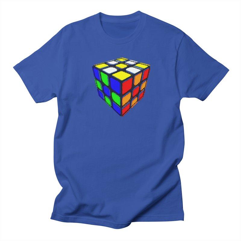 Speedcube - halftone design Men's Regular T-Shirt by Pixel and Poly's Artist Shop