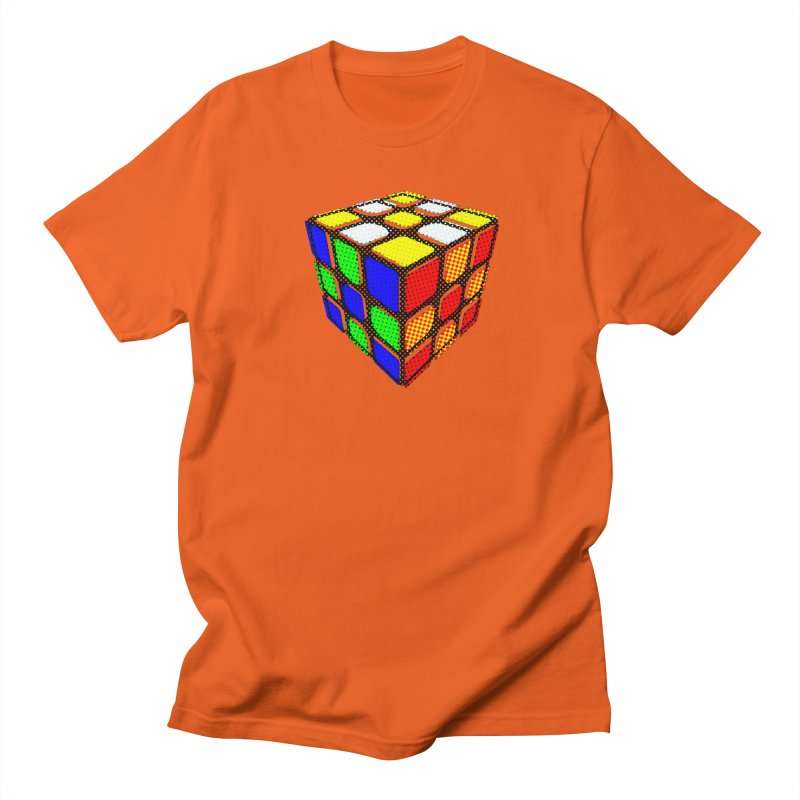 Speedcube - halftone design Men's Regular T-Shirt by Pixel and Poly's Artist Shop