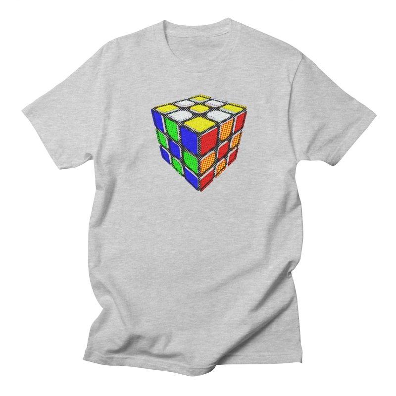 Speedcube - halftone design Women's Regular Unisex T-Shirt by Pixel and Poly's Artist Shop