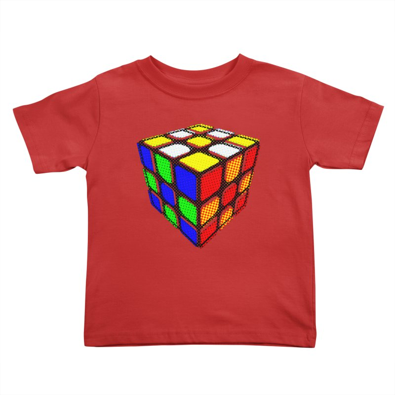 Speedcube - halftone design Kids Toddler T-Shirt by Pixel and Poly's Artist Shop