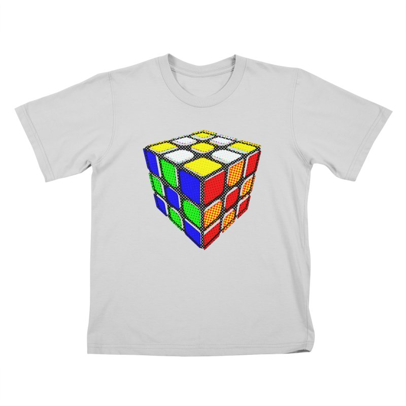 Speedcube - halftone design Kids T-Shirt by Pixel and Poly's Artist Shop