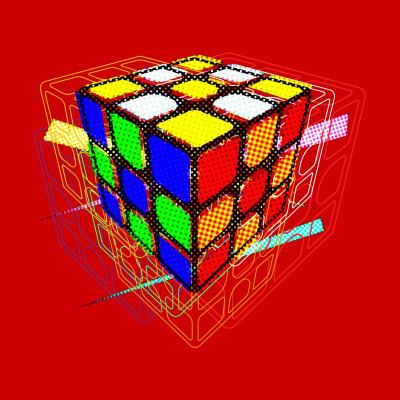 Speedcube - halftone glitch design by Pixel and Poly's Artist Shop