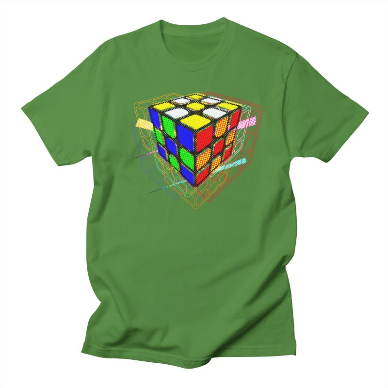 Speedcube - halftone glitch design Women's Regular Unisex T-Shirt by Pixel and Poly's Artist Shop