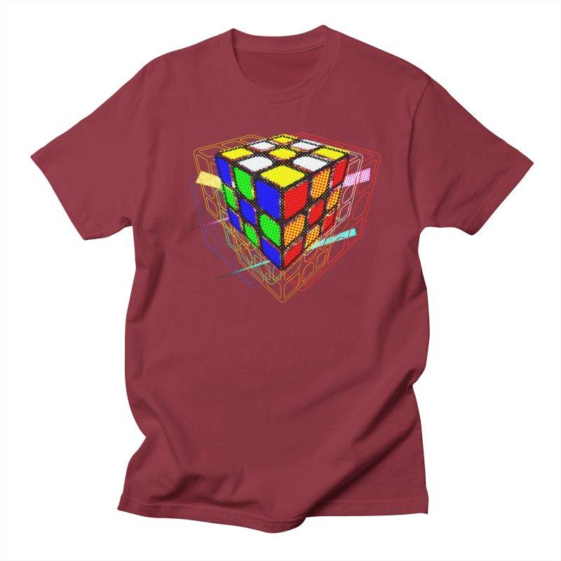 Speedcube - halftone glitch design Men's T-Shirt by Pixel and Poly's Artist Shop