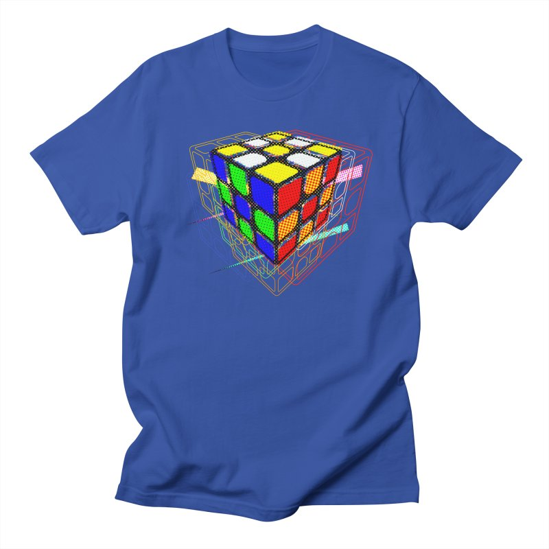 Speedcube - halftone glitch design Men's T-Shirt by Pixel and Poly's Artist Shop