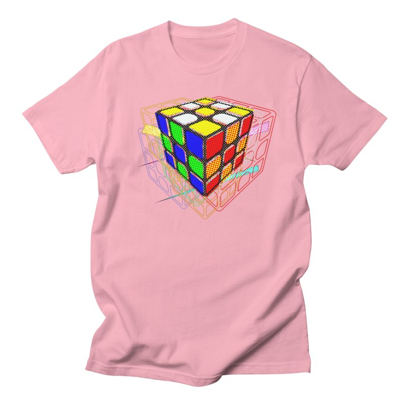 Speedcube - halftone glitch design Women's Regular Unisex T-Shirt by Pixel and Poly's Artist Shop