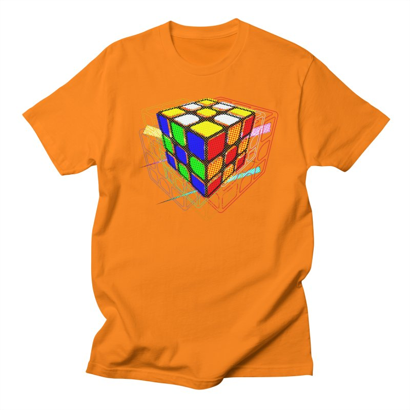 Speedcube - halftone glitch design Men's Regular T-Shirt by Pixel and Poly's Artist Shop