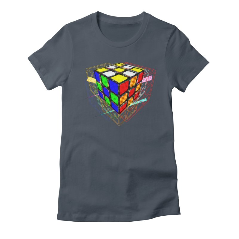 Speedcube - halftone glitch design Women's T-Shirt by Pixel and Poly's Artist Shop