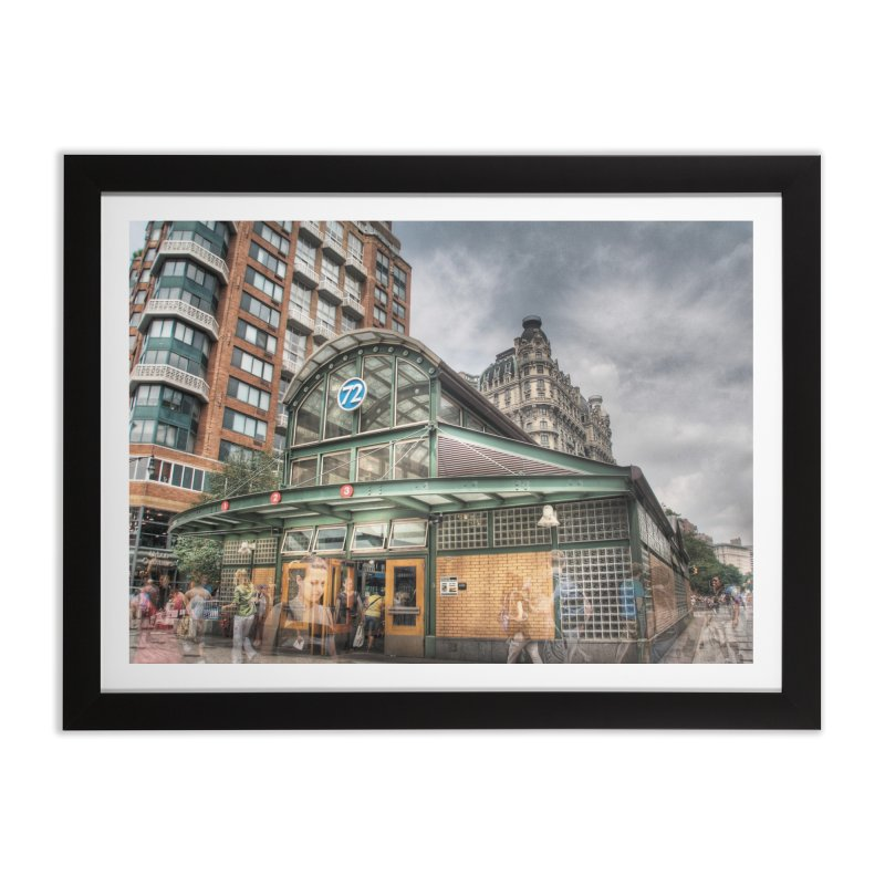 1 2 3 at 72nd Street Home Framed Fine Art Print by Pixel and Poly's Artist Shop