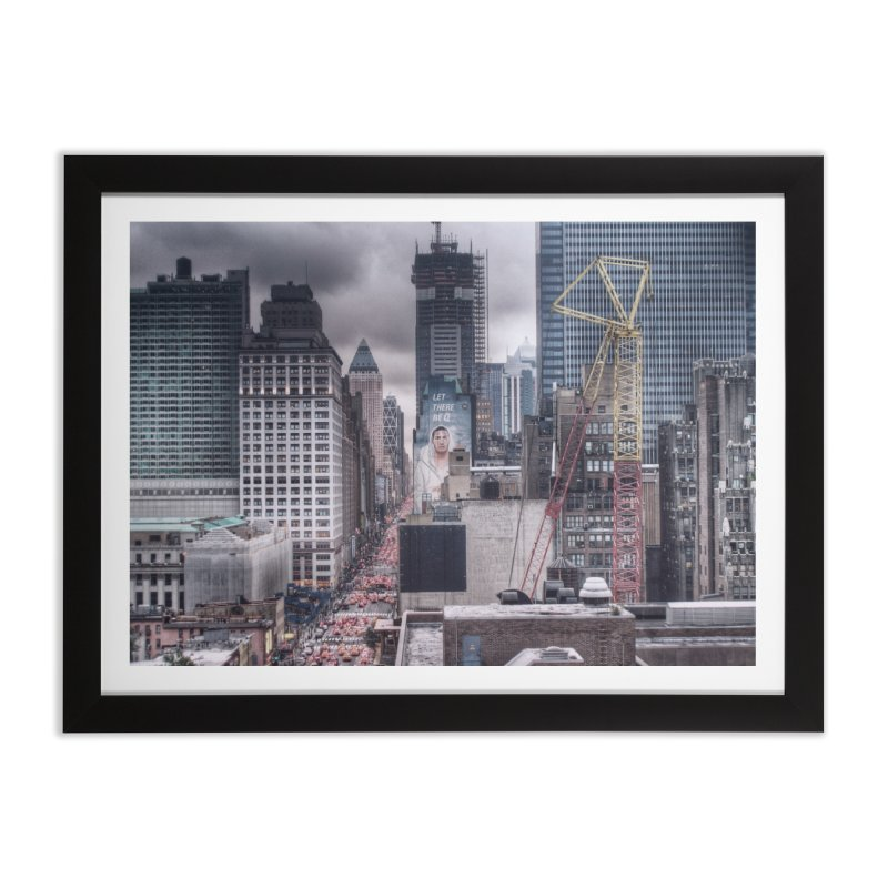 Looking up 8th Ave. Home Framed Fine Art Print by Pixel and Poly's Artist Shop