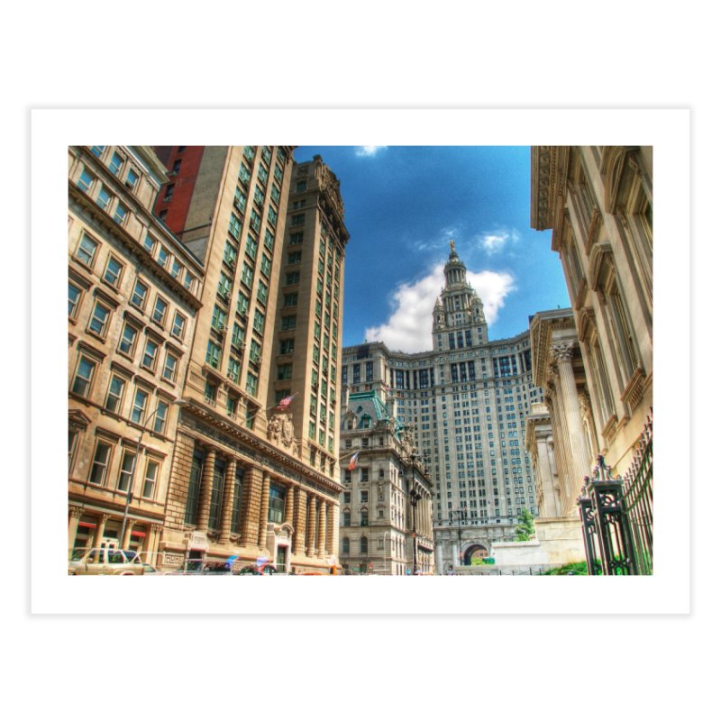 Manhattan Municipal Building Home Fine Art Print by Pixel and Poly's Artist Shop