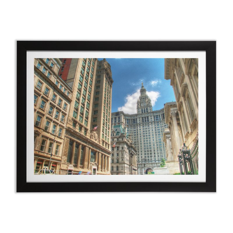 Manhattan Municipal Building Home Framed Fine Art Print by Pixel and Poly's Artist Shop