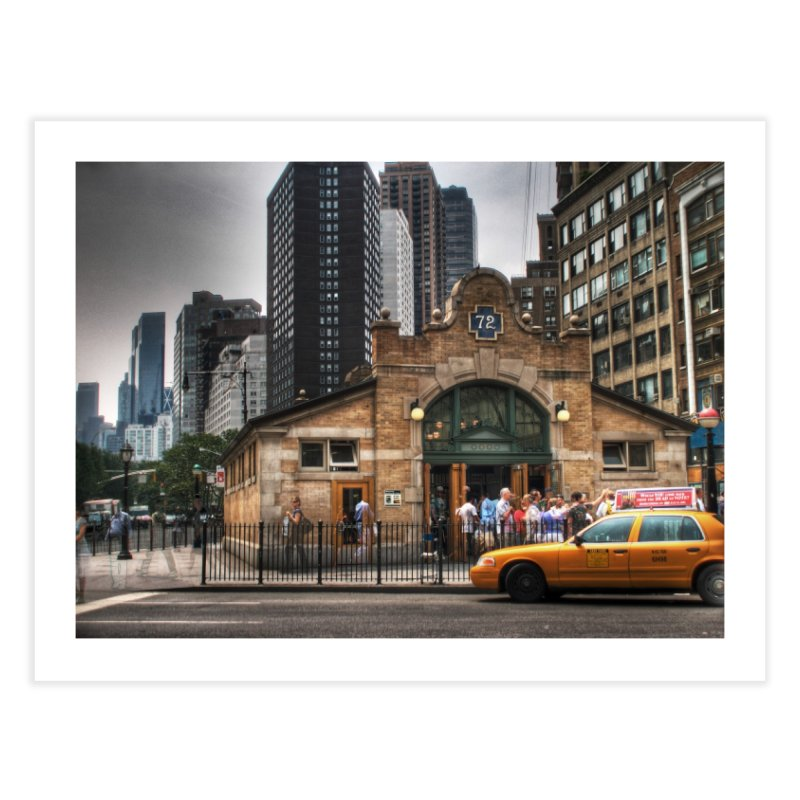 72nd Street Entrance Home Fine Art Print by Pixel and Poly's Artist Shop