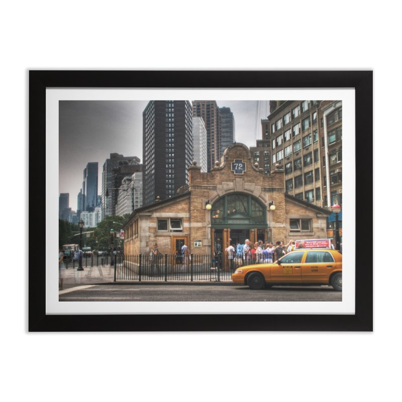 72nd Street Entrance Home Framed Fine Art Print by Pixel and Poly's Artist Shop
