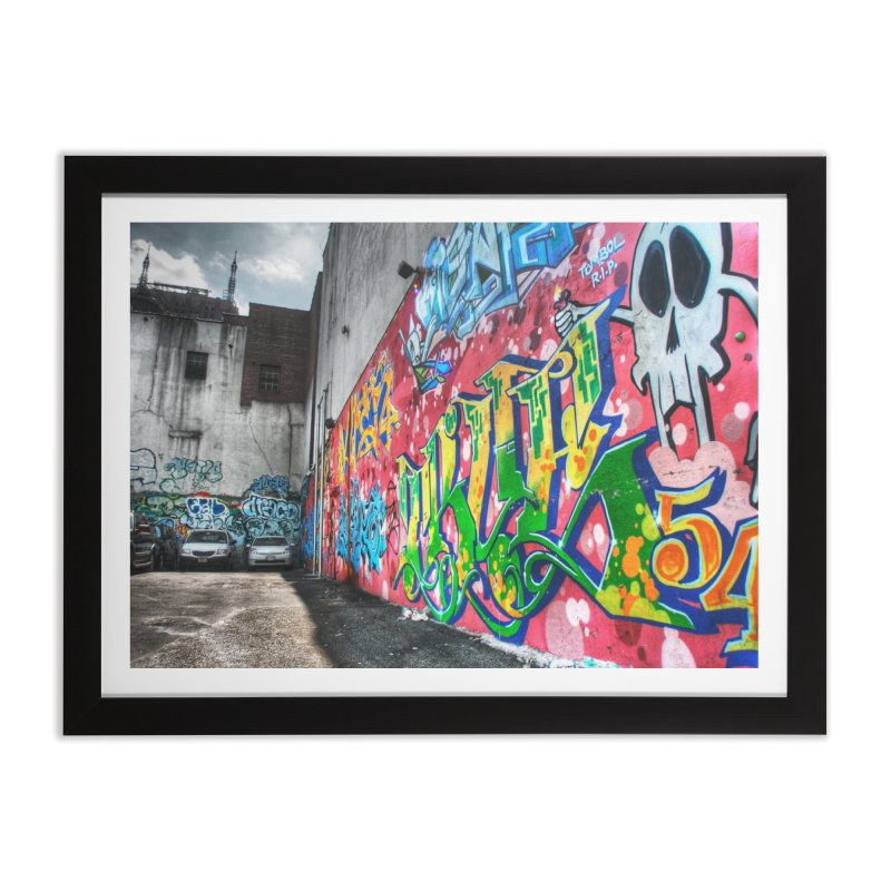 Graffiti Home Framed Fine Art Print by Pixel and Poly's Artist Shop