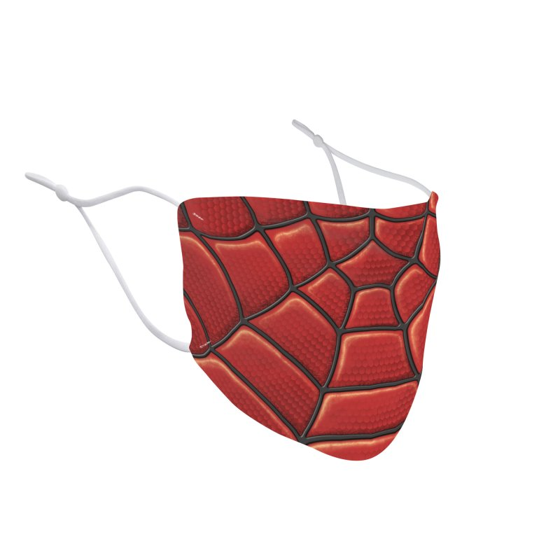Red Super-Hero Mask Accessories Face Mask by Pixel and Poly's Artist Shop